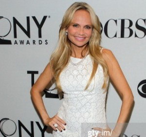 Actress Kristin Chenoweth wearing this fabulous button ring