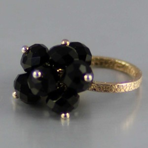 Black Fire Crystal Ring