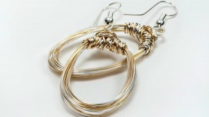 silver gold mix hoops 2