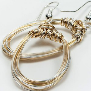 Mixed Wire Hoop Earrings