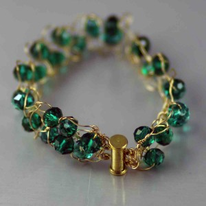 Knit Crystal Bracelet