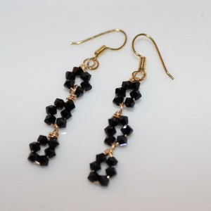 Swarovski 3 Flower Drop Earrings