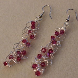 Silver Swarovski Knit Earrings