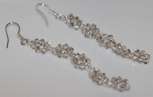 Crystal Silver Shade Earrings