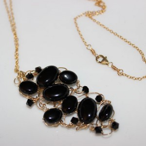 Parker Necklace with Black Onyx and Swarovski