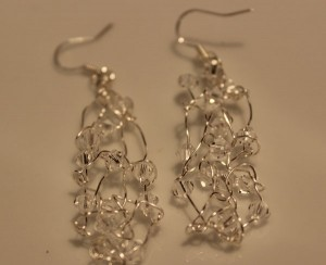 Crystal Silver Shade Earrinngs